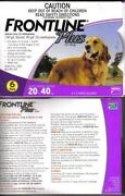 Frontline Plus for Dogs 45-88 lbs 6 Pack