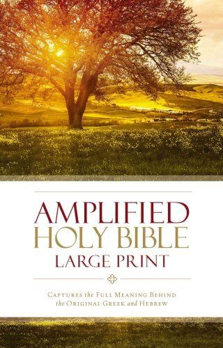Amplified Holy Bible, Large Print, Hardcover Captures the Full ... 9780310444039
