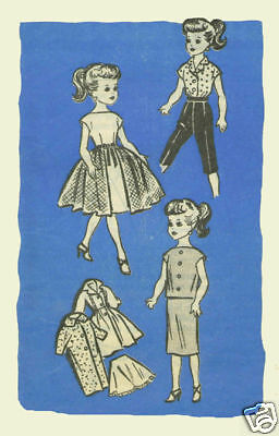 "For 10.5""  Little Miss Revlon Doll Fashion Pattern #9302"