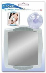 zadro z300 fogless suction cup mountable clipon shower shaving travel mirror