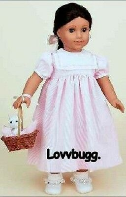 "Lovvbugg Dress Complete FULL SET w Cat for 18"" American Girl Doll Clothes"