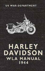 The Harley Davidson WLA Manual 1944, U.S. War Department