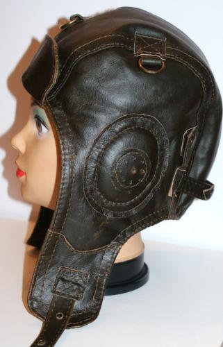 Leather Aviator Helmet Ebay