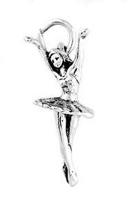STERLING SILVER DANCING BALLERINA CHARM PENDANT (Ballerina Charm)