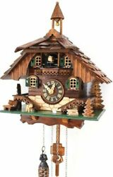 cuckoo clock black forest quartz german wood batterie house style handmade new