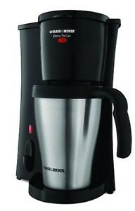 Black & Decker DCM18S Brew 'n Go Personal Coffeemaker with Travel Mug, New