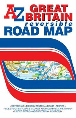 G.B. Road Map (Reversible) (A-Z Road Map) by Geographers A-Z Map Com 1843489074 for sale  Shipping to India