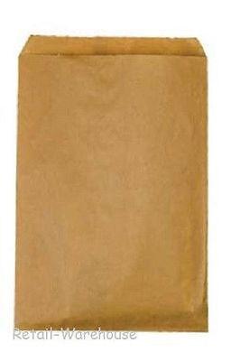 Paper Bags Kraft Flat 1000 Natural Retail Sales Merchandise 6 X 9