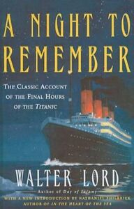 NEW A Night To Remember by Walter Lord BOOK (Hardback) Free P&H