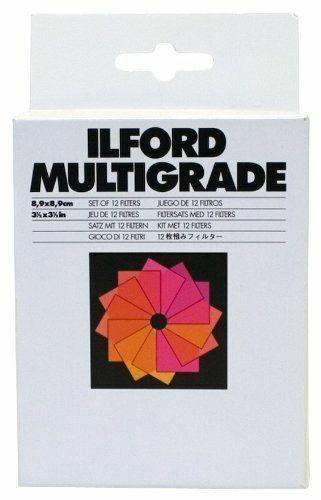 "Ilford Multigrade Set of 12 Gelatin Filters 3.5 x 3.5"" (1762628)"
