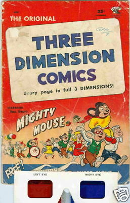 Mighty Mouse Three Dimension Comics #2 1953 G
