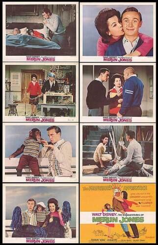 THE MISADVENTURES OF MERLIN JONES lobby card set ANNETTE FUNICELLO/TOMMY KIRK