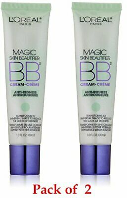 2pcs Loreal Magic Skin Beautifier Bb Cream, Anti-redness, 1 fl oz Two