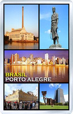 BRASIL PORTO ALEGRE FRIDGE MAGNET SOUVENIR IMAN NEVERA