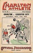 Pre War Football Programmes