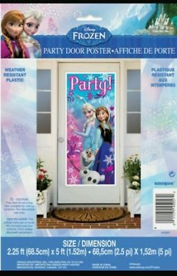 DISNEY FROZEN DOOR COVER BIRTHDAY PARTY ANNA ELSA OLAF 2.25' X 5'](Frozen Birthday Party Decorations)