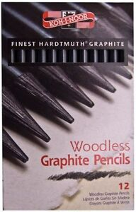 NEW 36 Koh-I-Noor Woodless Graphite Pencils (HB/2B/4B)