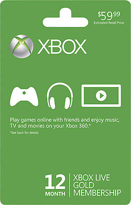 NEW Xbox Live 12-Month Gold Membership Subscription Card with Free Shipping on Rummage