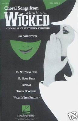 Choral Songs from Wicked Collection Noten Chor SSA/PF