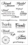 Clear Stamps Sentiments