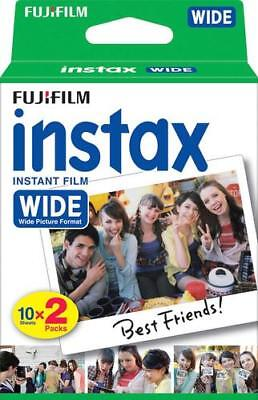 20 SHEETS Fujifilm Instax Wide Instant Film For Fuji 200 210 & 300 Wide Cameras