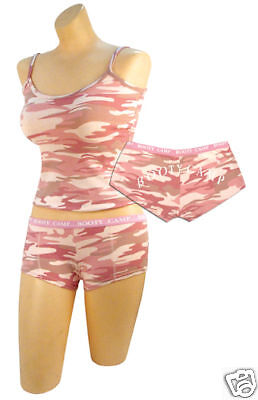 Rothco 3976/4976 Women's Baby Pink Camo ''Booty Camp'' Shorts And Or Top Pink Camo Booty