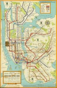 Subway Map EBay - Antique maps nyc