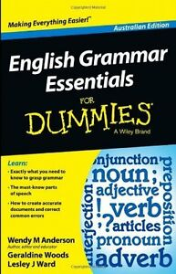 English Grammar Essentials for Dummies by Wendy M. Anderson New Paperback Book