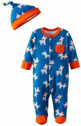 Offspring Baby Apparel Baby Boy Newborn Footie with Hat