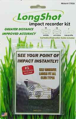 Long Shot Impact Label StickersTraining Kit 37 Labels Long Shot Impact Recorders