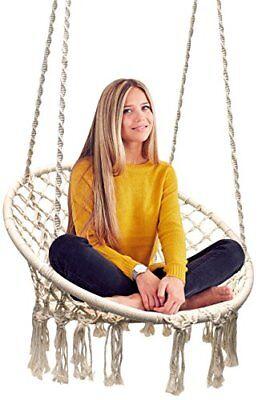 Sorbus Hammock Chair Macrame Swing, 265lbs Capacity Perfect