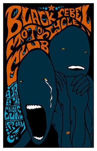 Black Rebel Motorcycle Club Engine Room Houston 2003 Rare Poster Jermaine Rogers