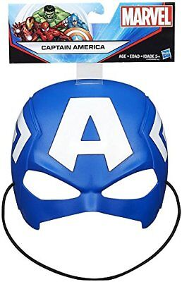 Marvel Captain America Mask Hasbro Durable Thick Plastic Extra Thick Head Strap - Mlp Halloween Special