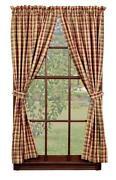 Plaid Curtain Panels