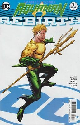 AQUAMAN REBIRTH #1 VARIANT EDITION SOLD OUT DC COMIC BOOK NEW 2016