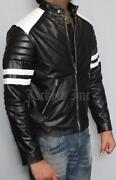 Black White Leather Jacket