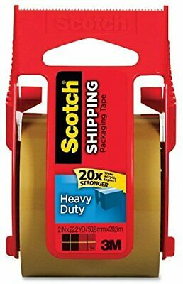 Scotch Heavy Duty Shipping Packaging Tape 1.88 Inch X 800 Inch Tan Pack Of