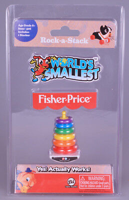 World's Smallest Fisher Price Rock-A-Stack [New Toy] Toy, Choking Hazard