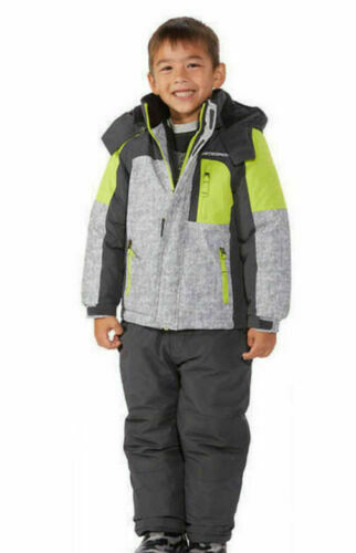 32 Degrees Boys Weatherproof Snow Hooded Jacket, Grey, Black, Green,  2T