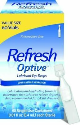Refresh Optive Lubricant Eye Drops - 60 Vials