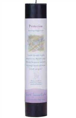 Crystal Journey PROTECTION Herbal Magic Charged Reiki Pillar Candle, 7""