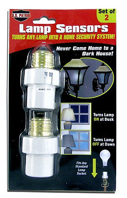 2 Lamp Sensors Automatic Dusk to Dawn Security Light Switch System Socket NEW