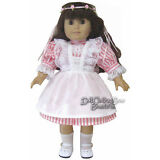 "Dress + Lacy Pinafore + Circlet fits 18"" American Girl Doll Clothes Samantha"