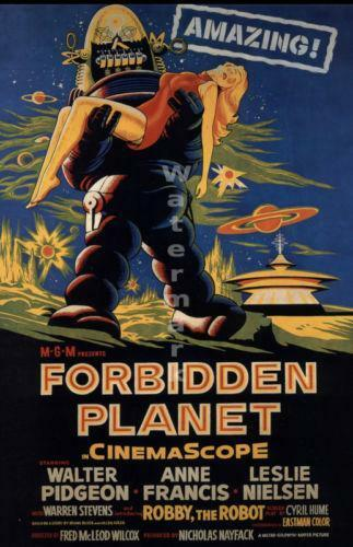 Forbidden Planet Movie Poster | eBay