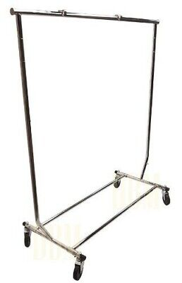 Retail Single 1 Bar Rail Clothes Display Rack Fixture Garment Hanger