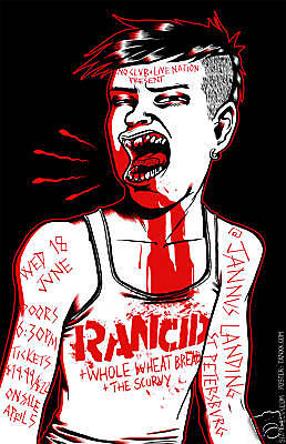 Rancid w/ Whole Wheat Bread & The Scurvy [Concert Poster] 11 x 17 #