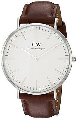 Daniel Wellington St Mawes White Dial SS Brown Leather Quartz Mens Watch 0207DW