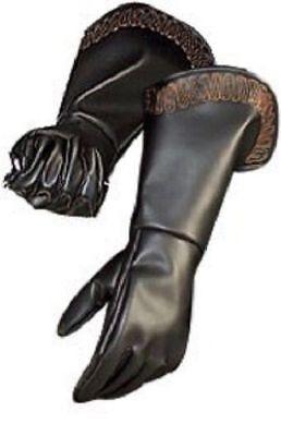 Adult Mens Venetian Medieval Renaissance Gauntlets Gloves Costume Accessory - Gauntlet Gloves