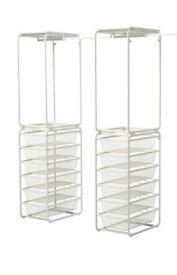 2x Ikea ALGOT Hanging Rails & Separate Basket Stacks