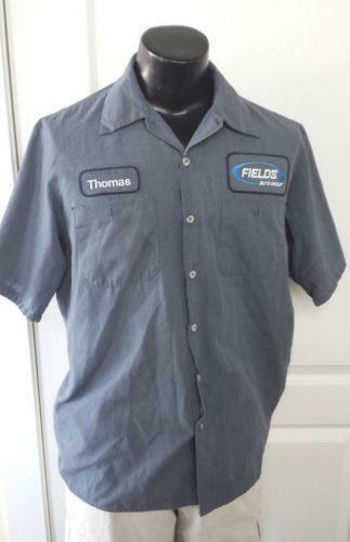 Work shirt name patch ebay for Mechanic shirts custom name patch